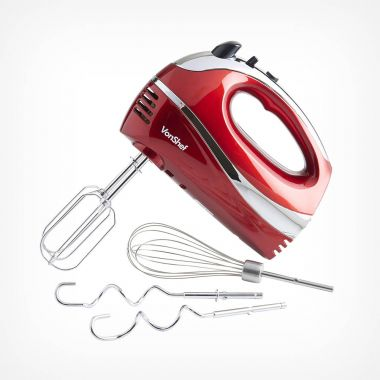 300W Red Hand Mixer