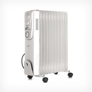 11 Fin 2500W Oil Filled Radiator - White
