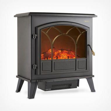1850W Large Black Stove Heater