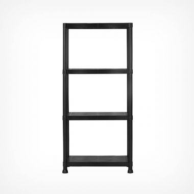 4 Tier Black Shelving Unit