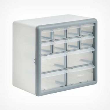 White 12 Drawer Organiser