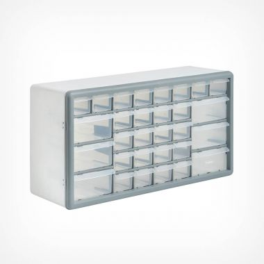 White 30 Drawer Organiser