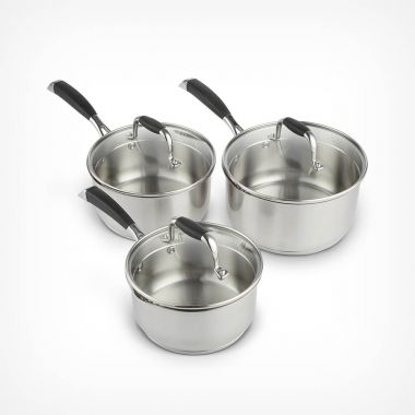3 Piece Stainless Steel Pan Set