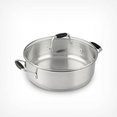 28cm Stainless Steel Casserole Pot