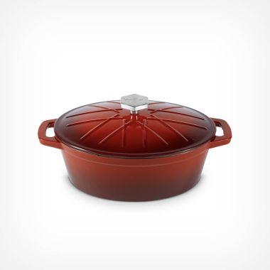 Ombre 3.8L Cast Iron Casserole Dish