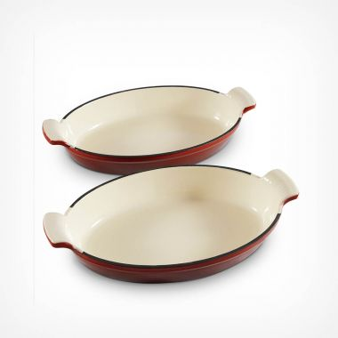 Ombre 2 Piece Cast Iron Gratin Dish Set