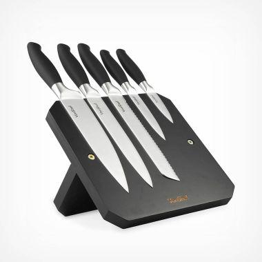 5pc Magnetic Knife Block Set