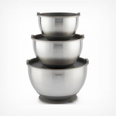 3pc Suction Base Mixing Bowl Set