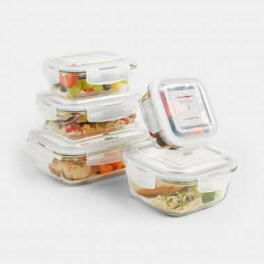 5pc Glass Container Storage Set