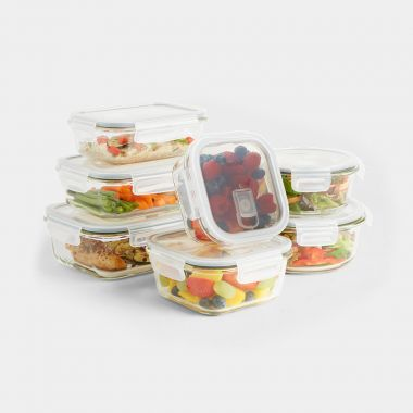 7 Piece Glass Storage Container Set