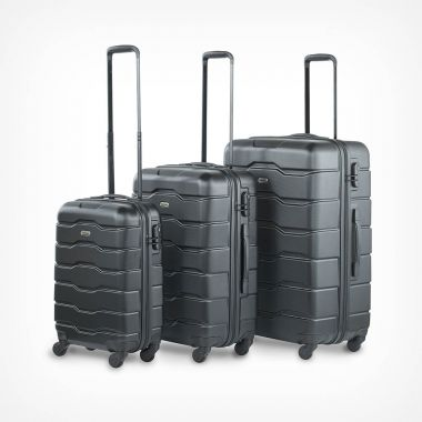 3pc Black Luggage Set