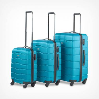 3pc Teal Luggage Set