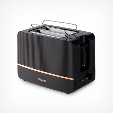 2 Slice Black & Copper Toaster