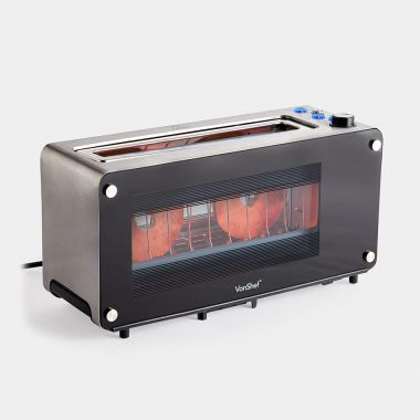 2 Slice Glass Window Toaster