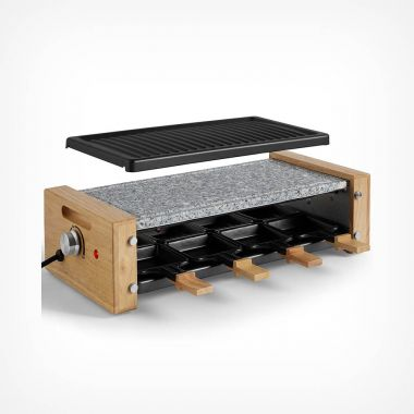 1200W 8 Person Raclette Grill & Stone