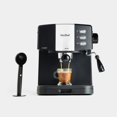 vonshef 15 bar black at home espresso machine