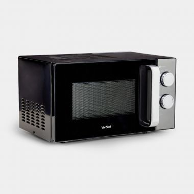 VonShef 20L Black Manual Microwave