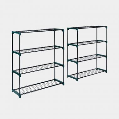 2 x 4 Tier Garden Shelving Unit