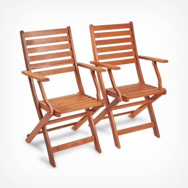 2 Pack Wooden Folding Chairs