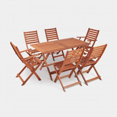6 Seater Wooden Dining Set