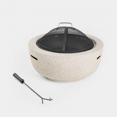 Round MgO Fire Pit