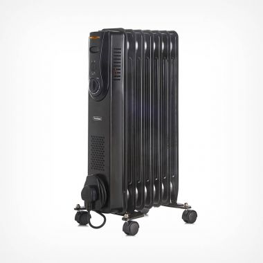 7 Fin 1500W Oil Filled Radiator - Black