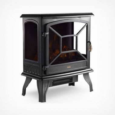 1800W Black Panoramic Stove Heater