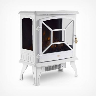 1800W White Panoramic Stove Heater
