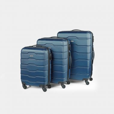 3pc Navy Luggage Set