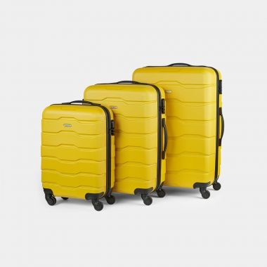 3pc Bumblebee Yellow Luggage Set