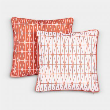 2 Pack Orange Scatter Cushions