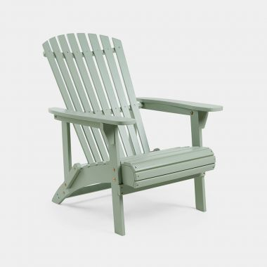 Sage Green Wooden Adirondack Chair