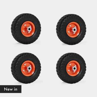 """10"""" Spare Pneumatic Wheels 4 Pack"""