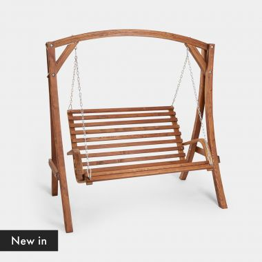 2 Seater Wooden Swing Seat