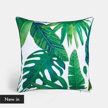 2 Pack Tropical Print Cushions
