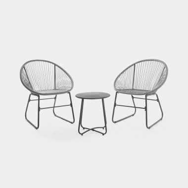 Rope Style Rattan Bistro Set