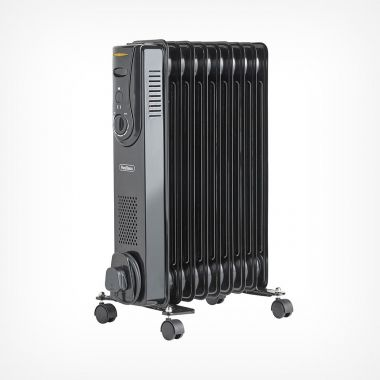 9 Fin 2000W Oil Filled Radiator - Black
