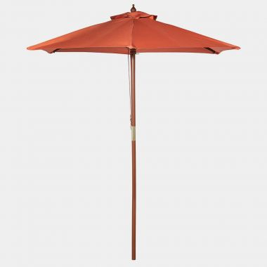 Burnt Orange 2M Wooden Parasol