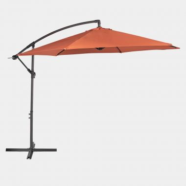 Burnt Orange 3M Banana Parasol