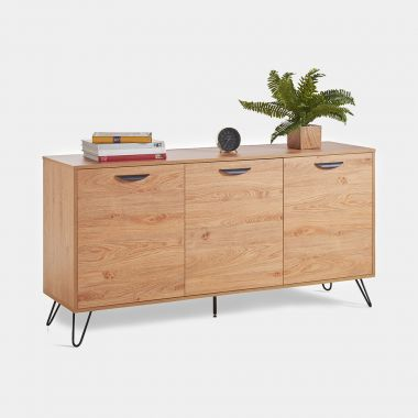 Capri Oak 3 Door Sideboard