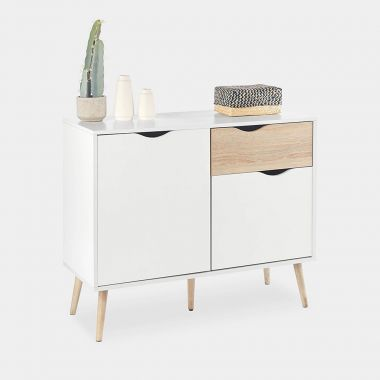 White & Oak Small Sideboard