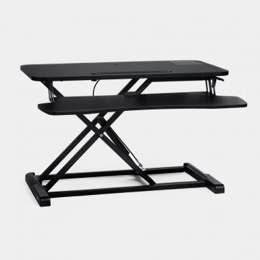 Sit/Stand Rising Workstation – Black