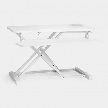 Sit/Stand Rising Workstation – White