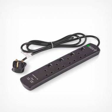 4 Socket Extension Lead & USB