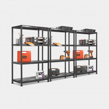 3 x 4 Tier Extra Wide Plastic Shelving