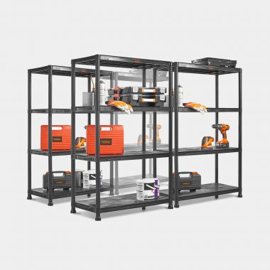 4 x 4 Tier Extra Wide Plastic Shelving