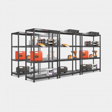 5 x 4 Tier Extra Wide Plastic Shelving