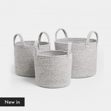 Set of 3 Rope Storage Baskets