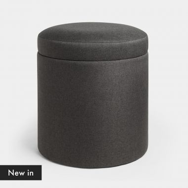 Round Charcoal Storage Stool