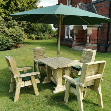 4 Seat Wooden Dining Set
